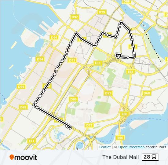 дубай маршруты автобусов на карте