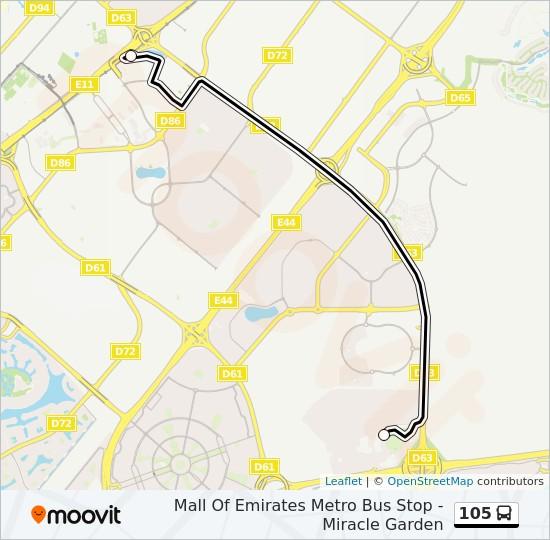 105 bus Line Map
