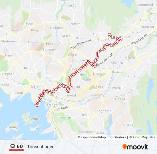 60 Route Time Schedules Stops Maps Tonsenhagen