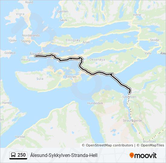 kart stranda kommune 250 Rutetidtabeller, Stopp & Kart kart stranda kommune