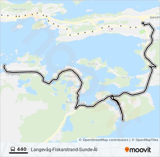440 Rute Tidsplaner Stopper Og Kart Moa Via Spjelkavik
