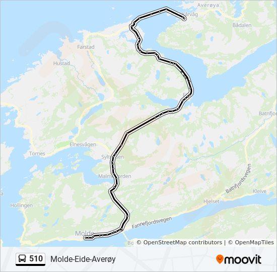 510 Rute Tidsplaner Stopper Og Kart Eide Averoy Via