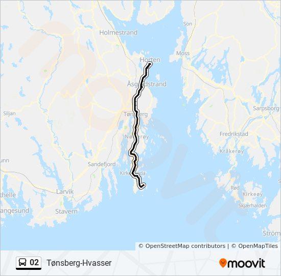 kart over hvasser 02 Rutetidtabeller, Stopp & Kart kart over hvasser