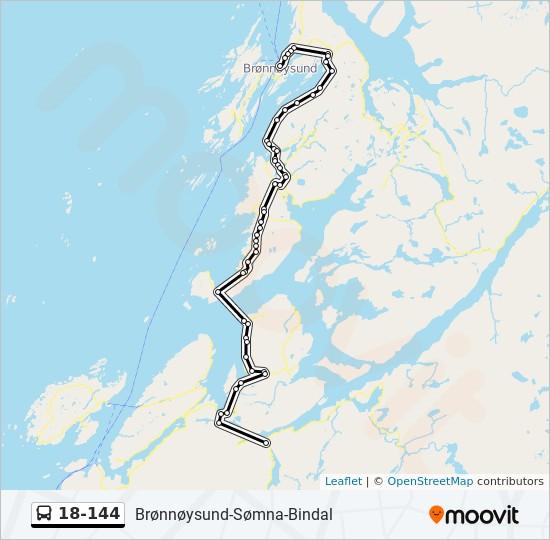18 144 Rute Tidsplaner Stopper Og Kart Berg Vik Vennesund Bindal