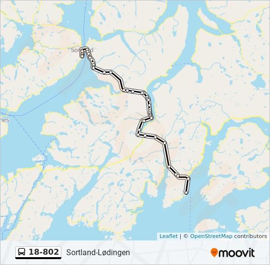 Topnotch 18-802 Rute: Tidsplaner, stopper og kart - Sortland DP-65