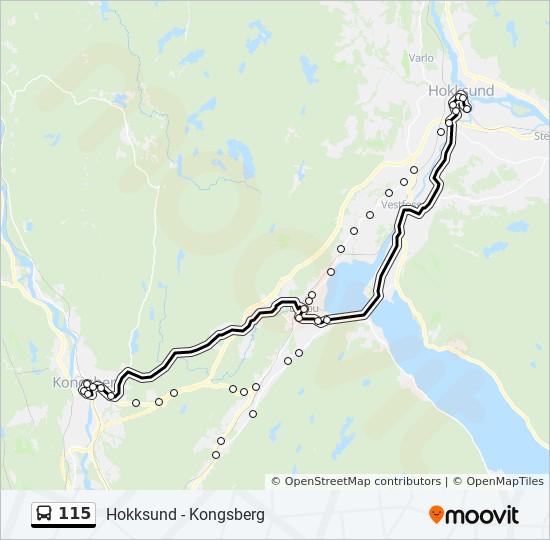 kongsberg knutepunkt kart 115 Rutetidtabeller, Stopp & Kart kongsberg knutepunkt kart