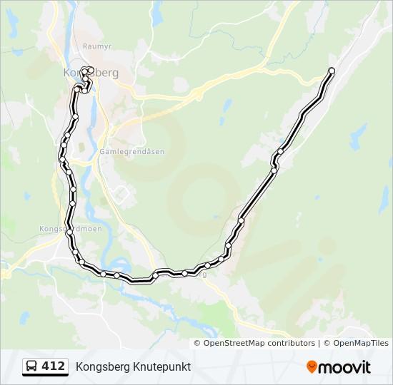 kongsberg knutepunkt kart 412 Rutetidtabeller, Stopp & Kart kongsberg knutepunkt kart