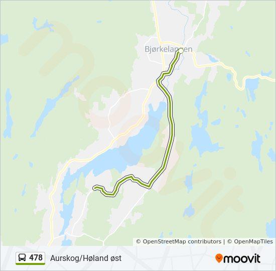 478 Rute Tidsplaner Stopper Og Kart Bjorkelangen Stasjon