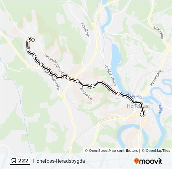 kart hønefoss sentrum 222 Rutetidtabeller, Stopp & Kart kart hønefoss sentrum