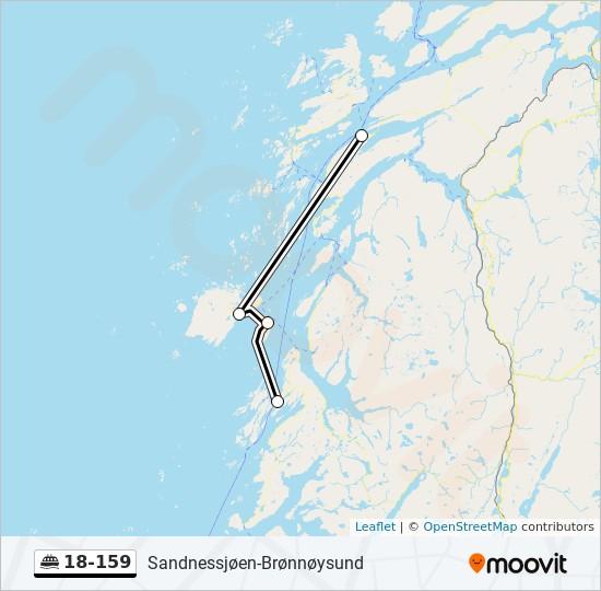 18 159 Rute Tidsplaner Stopper Og Kart Vega Bronnoysund