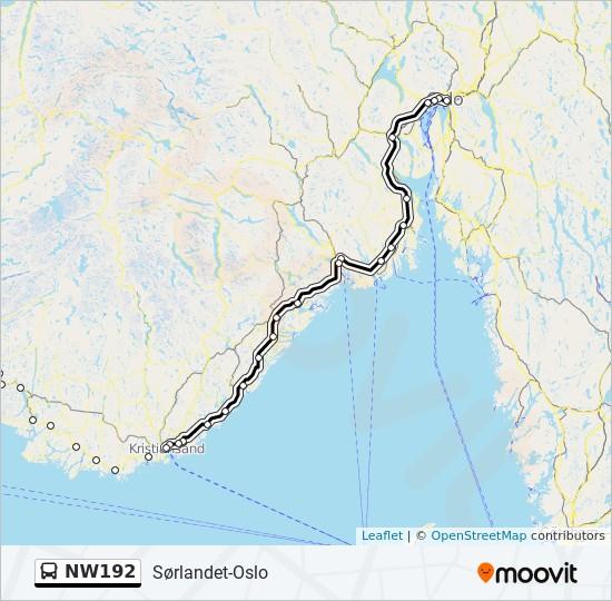 kristiansand rutebilstasjon kart NW192 Rutetidtabeller, Stopp & Kart kristiansand rutebilstasjon kart