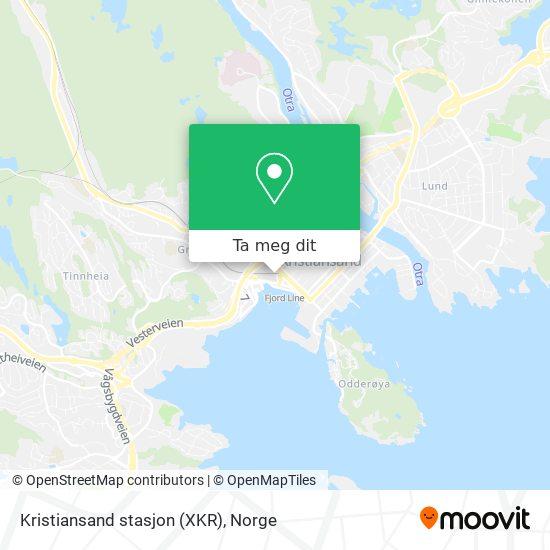 Kristiansand stasjon (XKR) kart
