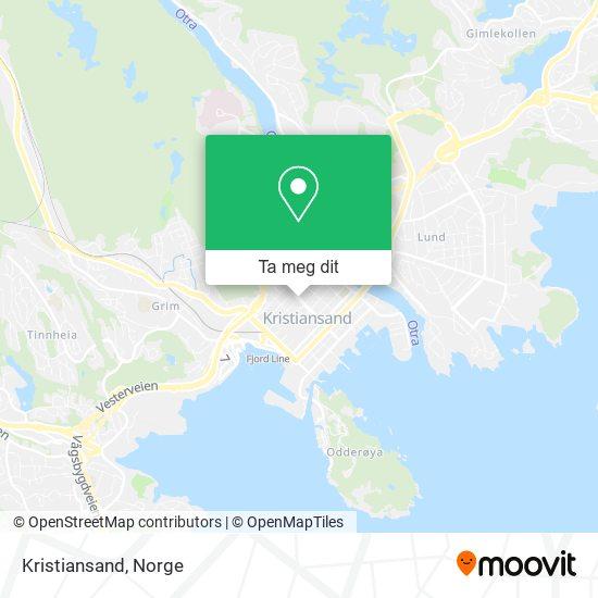 Kristiansand kart