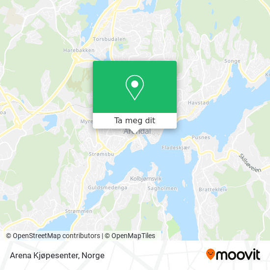 Arena Kjøpesenter kart