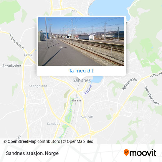 Sandnes stasjon kart
