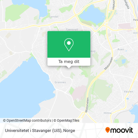 Universitetet i Stavanger (UiS) kart