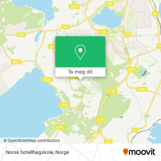 Norsk hotellhøgskole kart