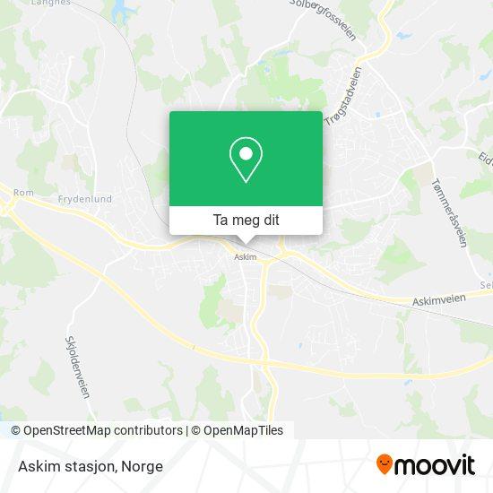 Askim stasjon kart