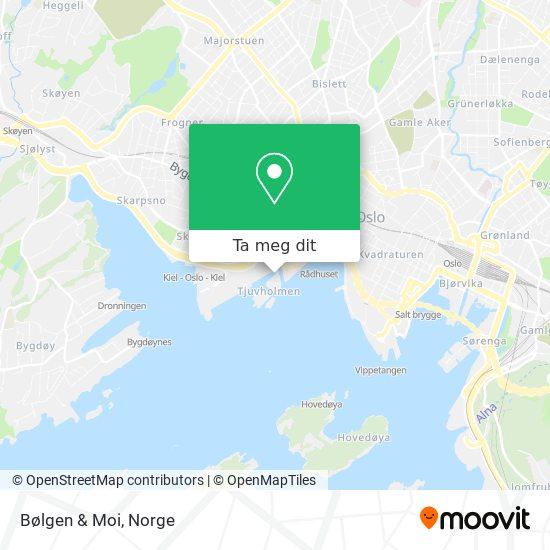 Bølgen & Moi kart