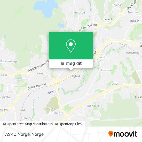 ASKO Norge kart