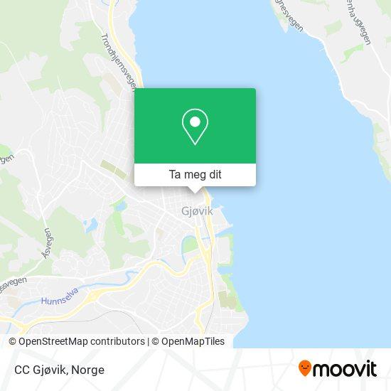 CC Gjøvik kart