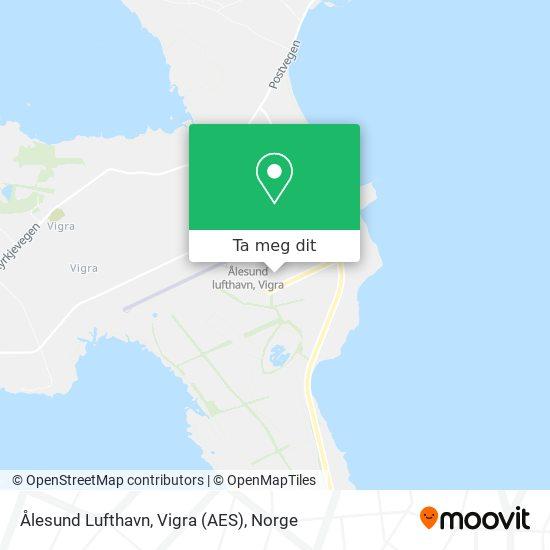 Ålesund Lufthavn, Vigra (AES) kart