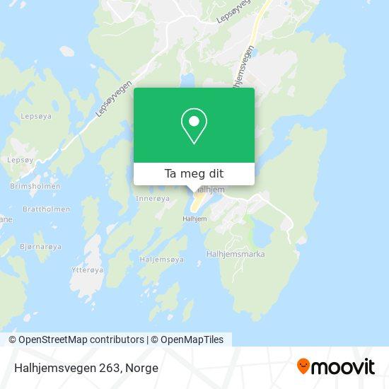 Halhjemsvegen 263 kart