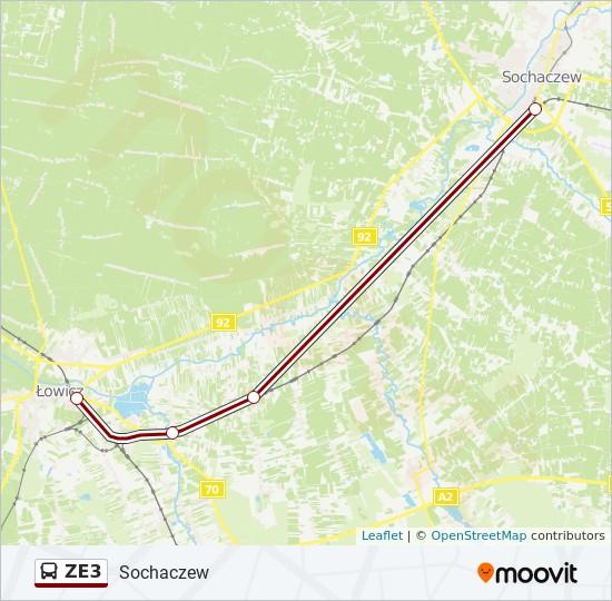 Linia Ze3 Rozklady Jazdy Przystanki I Mapy Sochaczew