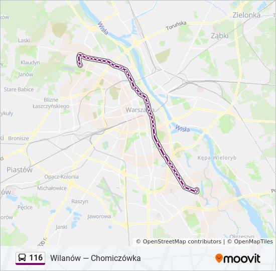 Linia 116 Rozkłady Jazdy Przystanki I Mapy Chomiczówka