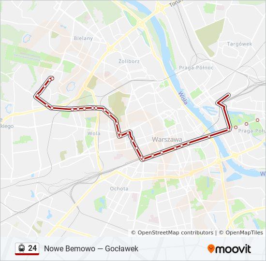 Linia 24 Rozklady Jazdy Przystanki I Mapy Nowe Bemowo