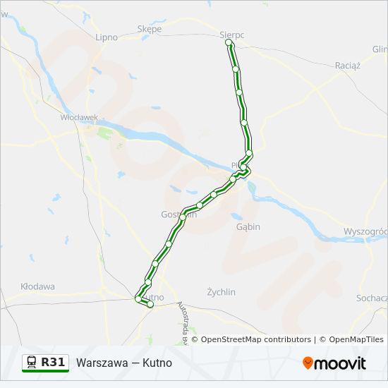 Linia R31 Rozklady Jazdy Przystanki I Mapy Kutno