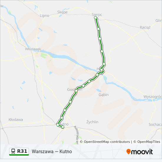 Linia R31 Rozklady Jazdy Przystanki I Mapy Sierpc