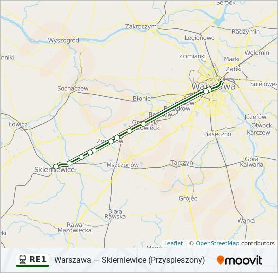 Linia Re1 Rozklady Jazdy Przystanki I Mapy Skierniewice