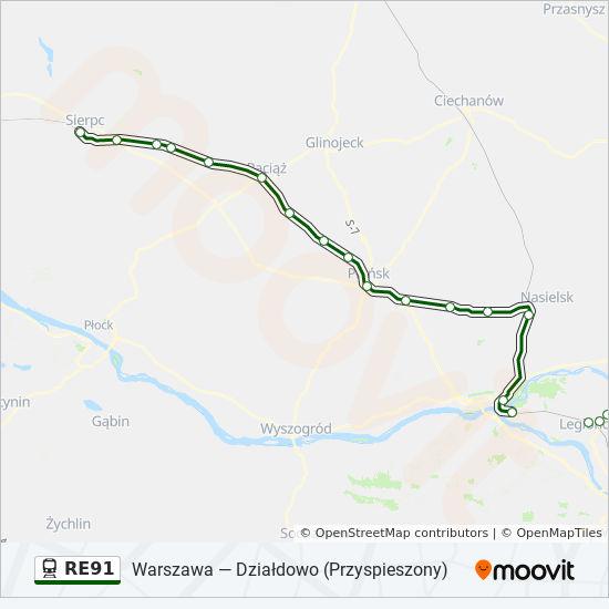 Linia Re91 Rozklady Jazdy Przystanki I Mapy Sierpc