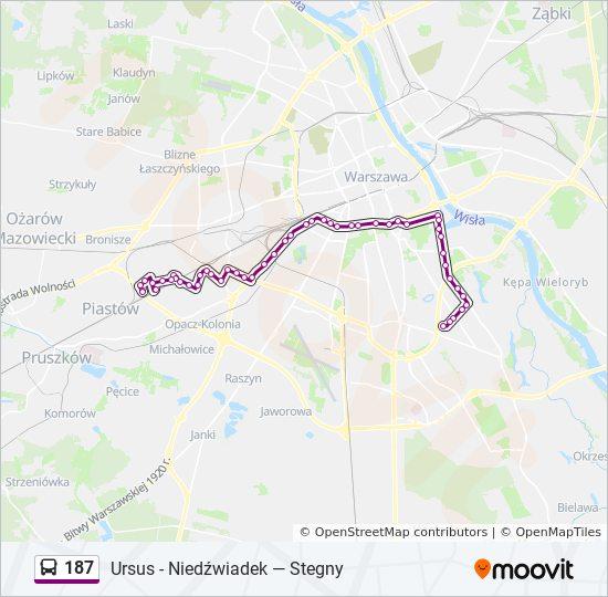 Warsaw Metro travel density by ZTM Warszawa map poland