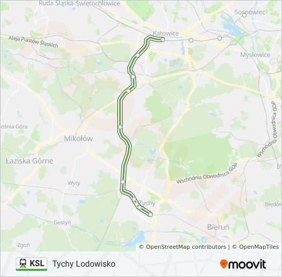 Linia Ksl Rozklady Jazdy Przystanki I Mapy Tychy Lodowisko