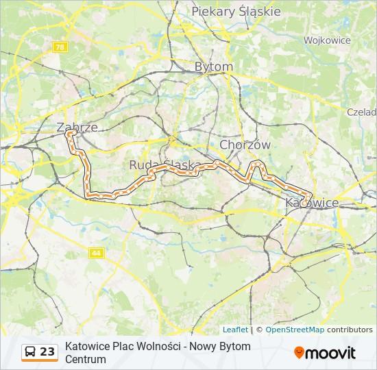 Linia 23 Rozklady Jazdy Przystanki I Mapy Zabrze Goethego