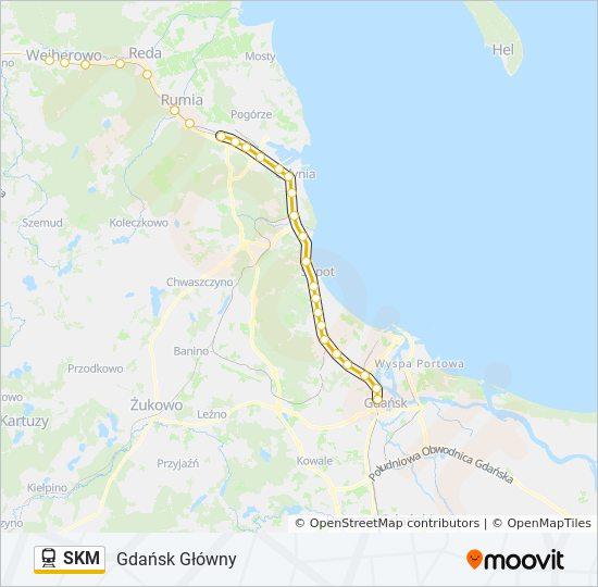 Linia Skm Rozklady Jazdy Przystanki I Mapy Gdansk Glowny