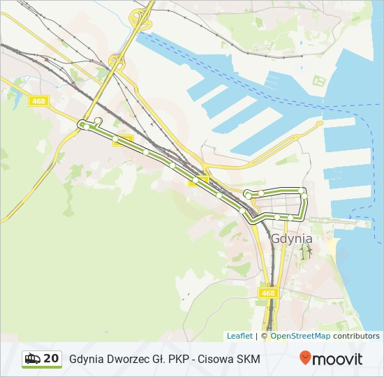 Linia 20 Rozklady Jazdy Przystanki I Mapy Grabowek Skm 53