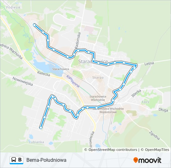 B Route Time Schedules Stops Maps Poludniowa