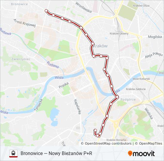 Linia 13 Rozklady Jazdy Przystanki I Mapy Zajezdnia Podgorze