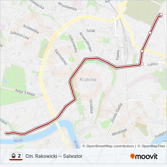 Linia 2 Rozklady Jazdy Przystanki I Mapy Cm Rakowicki