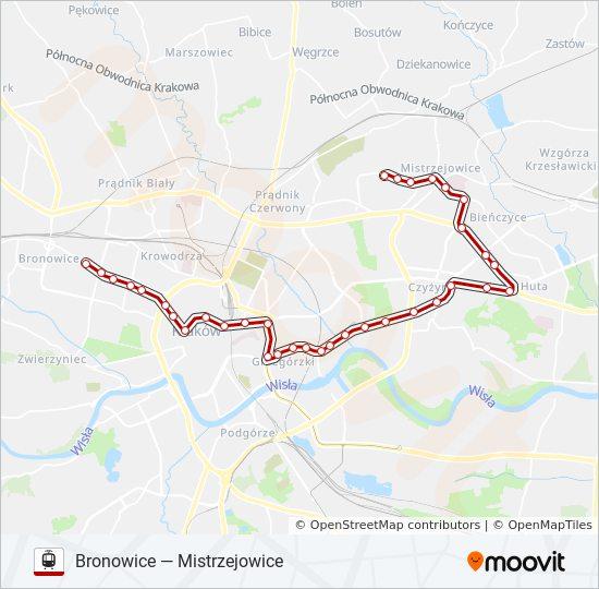 Linia 14 Rozklady Jazdy Przystanki I Mapy Bronowice