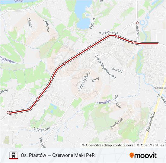 Linia 52 Rozklady Jazdy Przystanki I Mapy Czerwone Maki P R