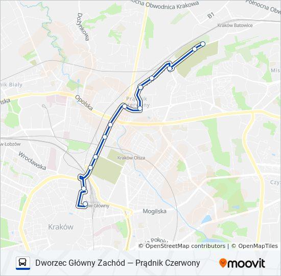 Linia 105 Rozklady Jazdy Przystanki I Mapy Dworzec Glowny Zachod