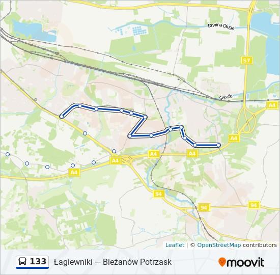 Linia 133 Rozklady Jazdy Przystanki I Mapy Biezanow Potrzask