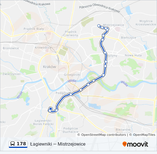 Linia 178 Rozklady Jazdy Przystanki I Mapy Mistrzejowice