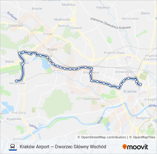 Linia 208 Rozklady Jazdy Przystanki I Mapy Krakow Airport