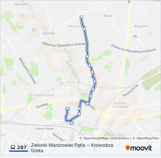 Linia 287 Rozklady Jazdy Przystanki I Mapy Zielonki Marszowiec