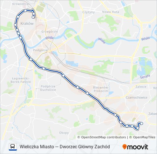 Linia 304 Rozklady Jazdy Przystanki I Mapy Dworzec Glowny Zachod